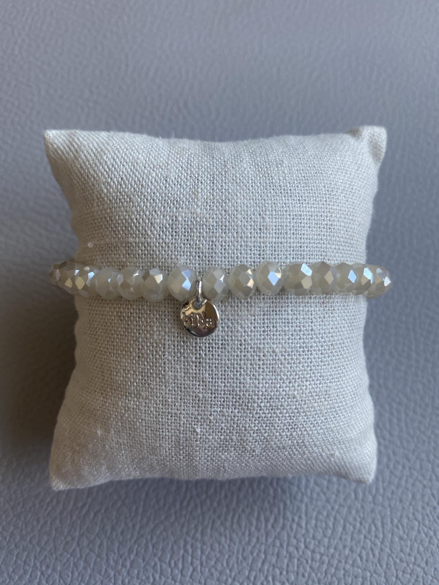 Biba Armband hellgrau/silber
