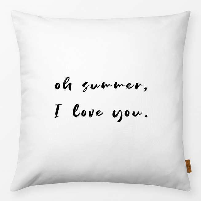 Kissen Oh Summer I Love You 40x40cm