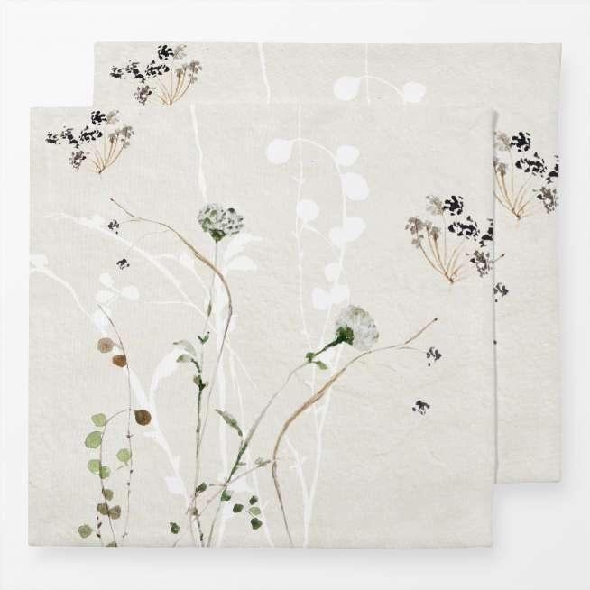 Baumwoll-Servietten Japan Ikebana, 2er Set, 40x40cm