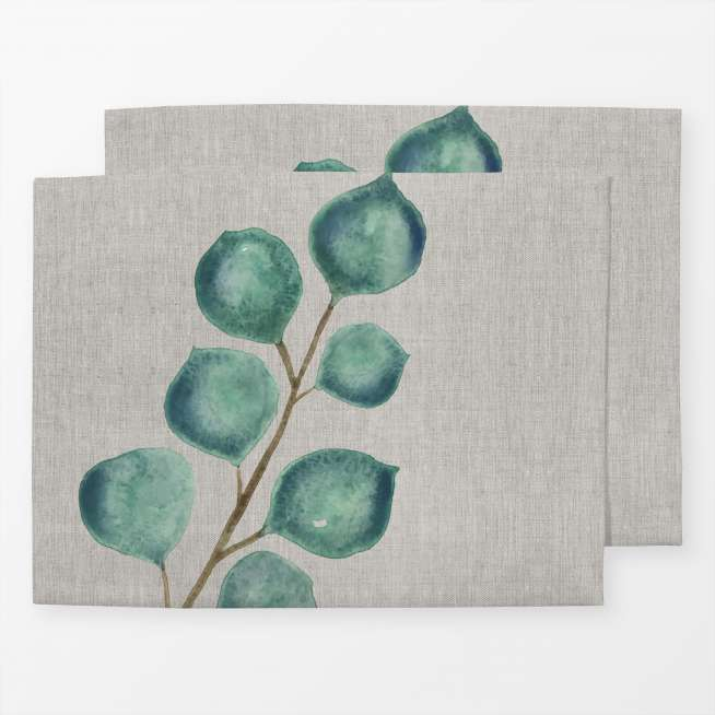 Tischset Foliage Eucalyptus Painting