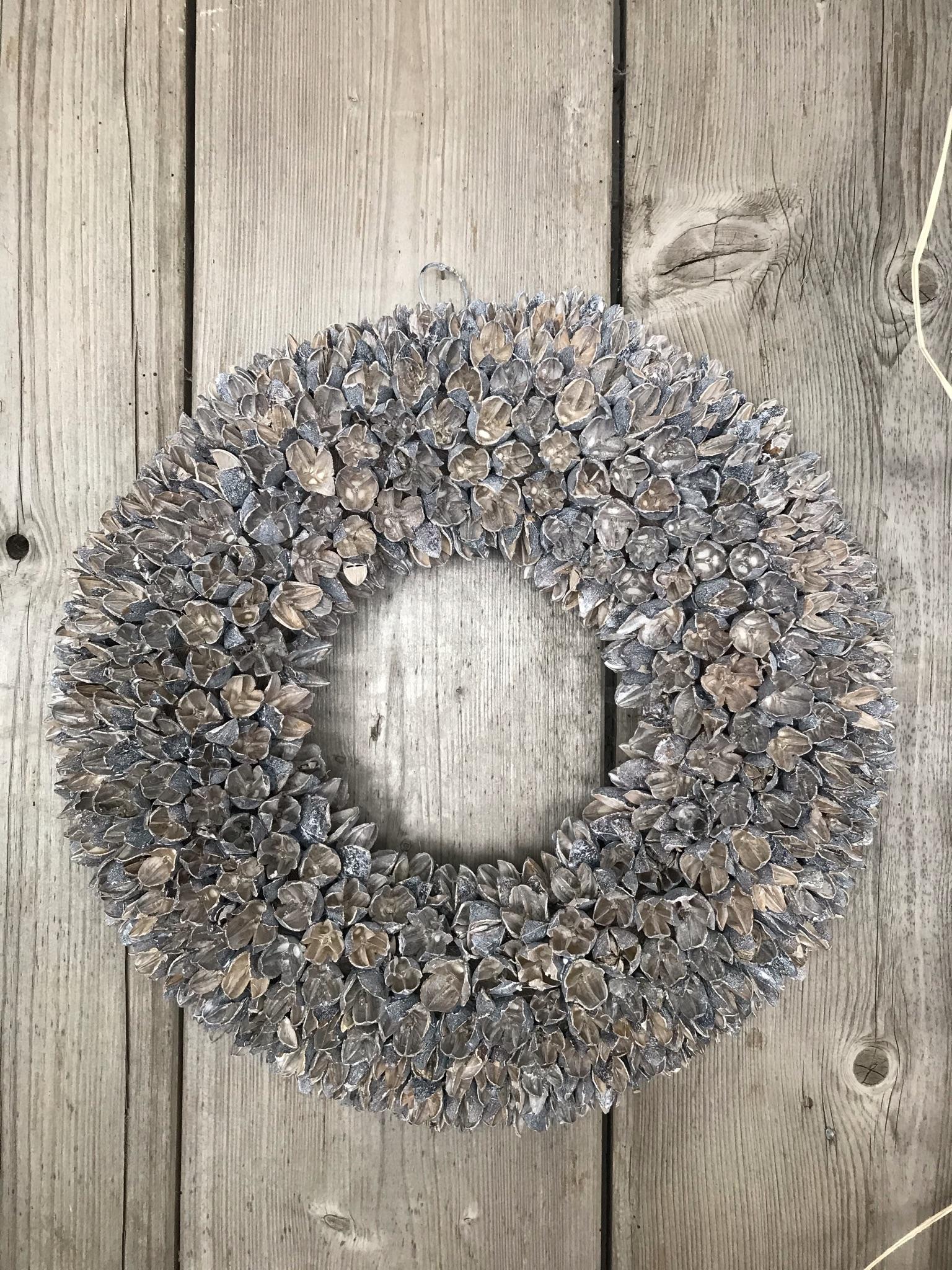 Naturkranz  Bakuli-Frucht  white-wash