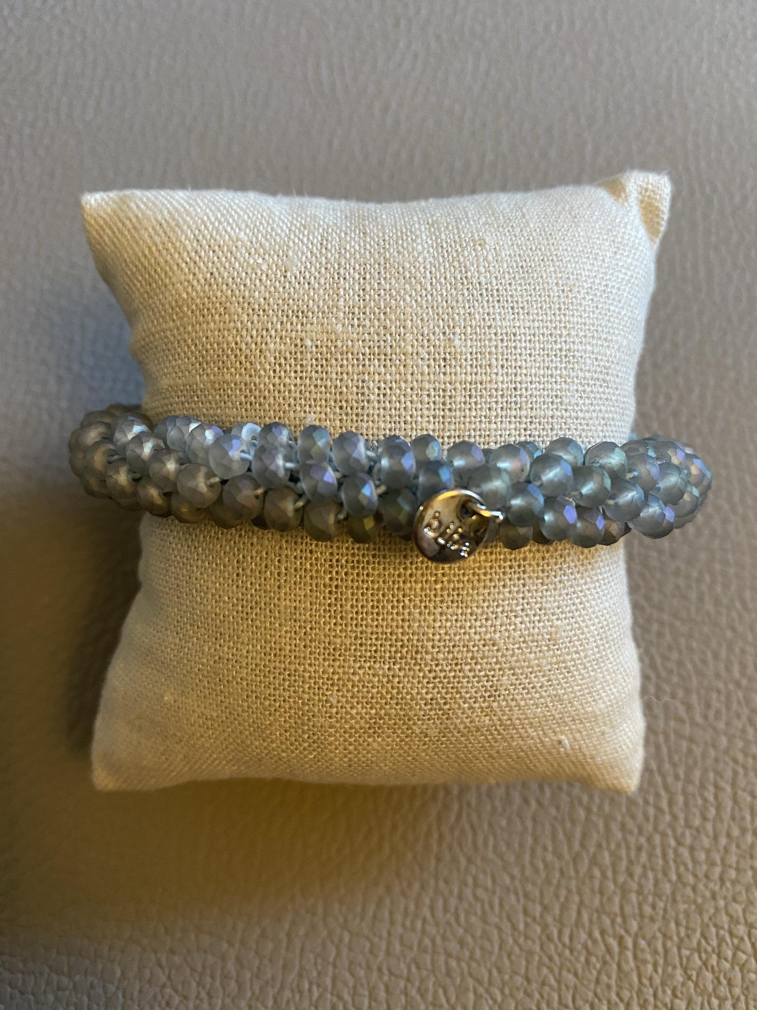 Biba Armband hellblau matt breit