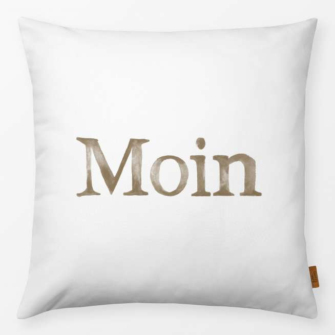 Kissen Moin beige 40x40cm