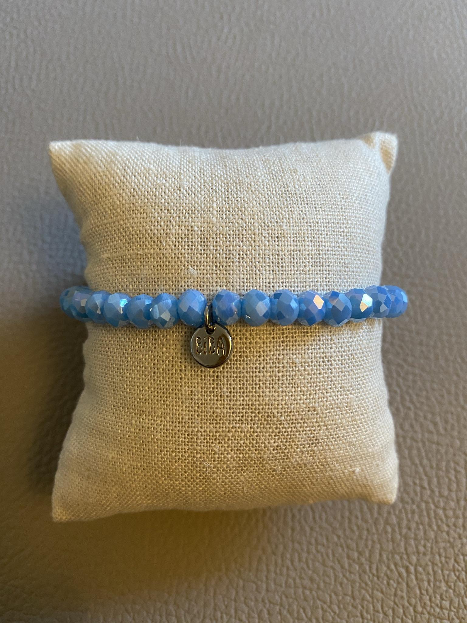 Biba Armband hellblau schimmernd glänzend