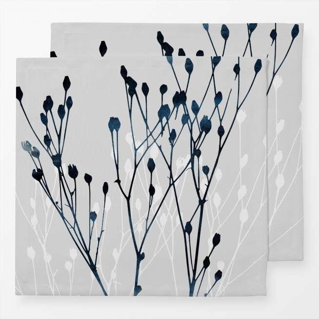 Baumwoll-Servietten Watercolor Leaves, 2er Set, 40x40cm