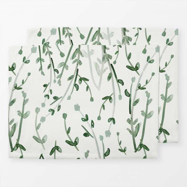 Tischset Aquarell Grün