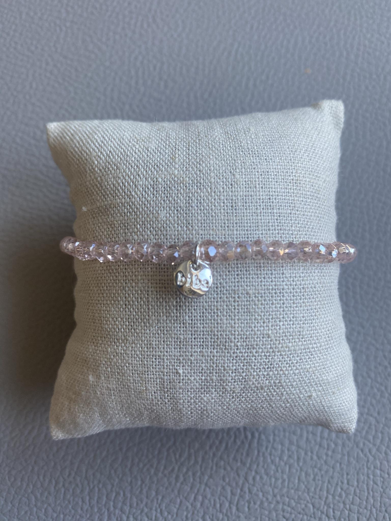 Biba Armband rosa/silber