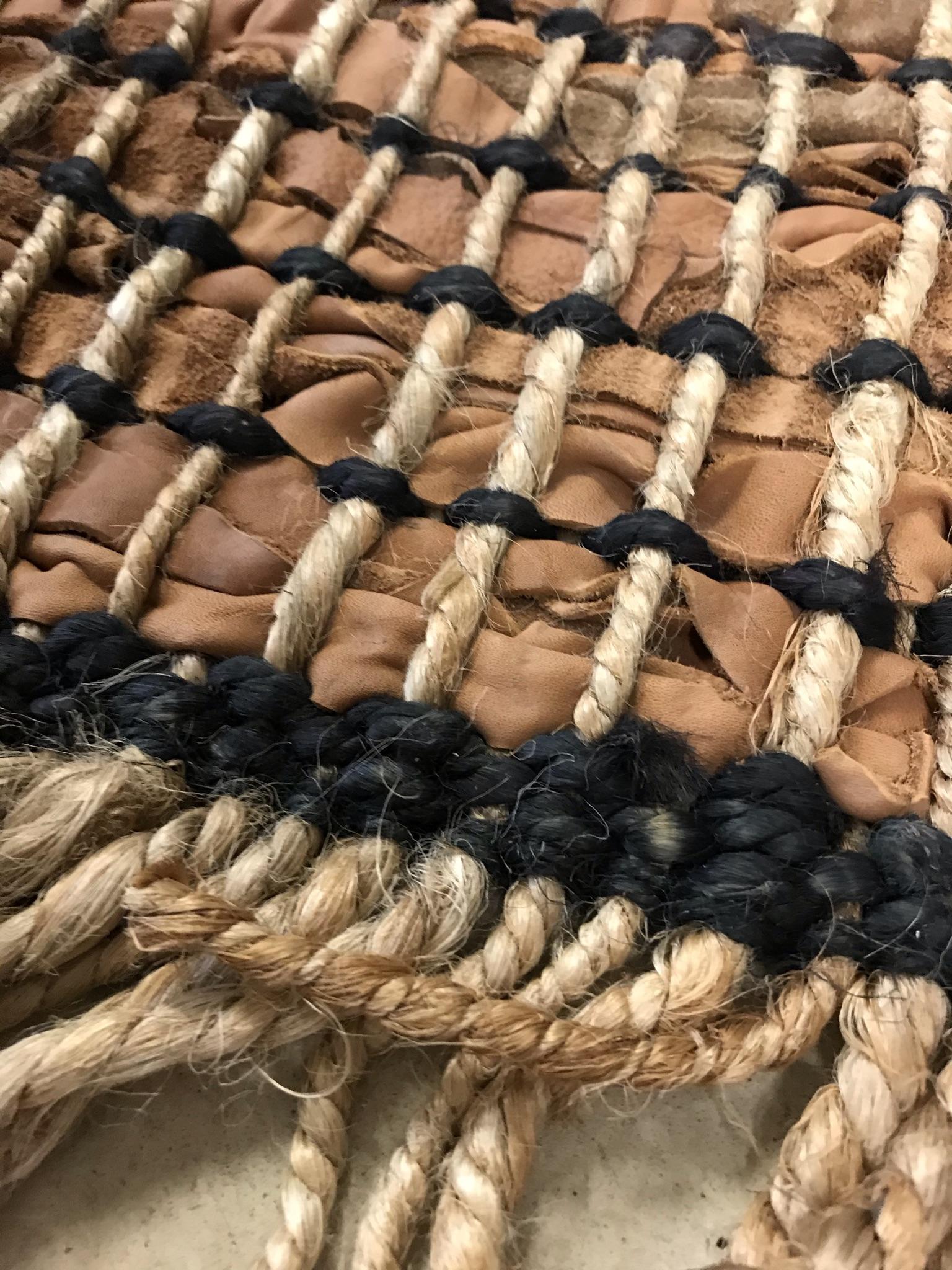Teppich Leder