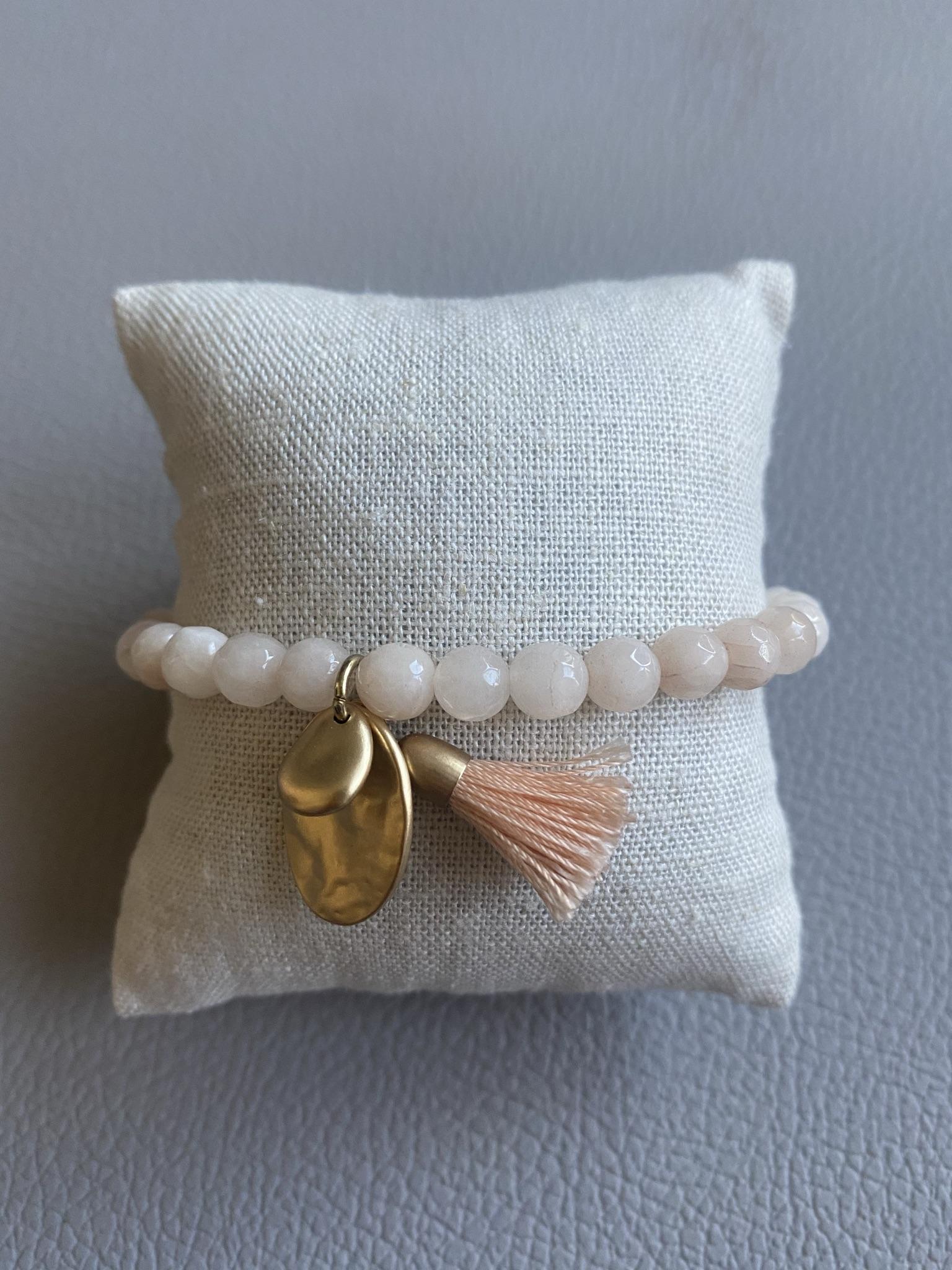 Biba Armband rosa/gold