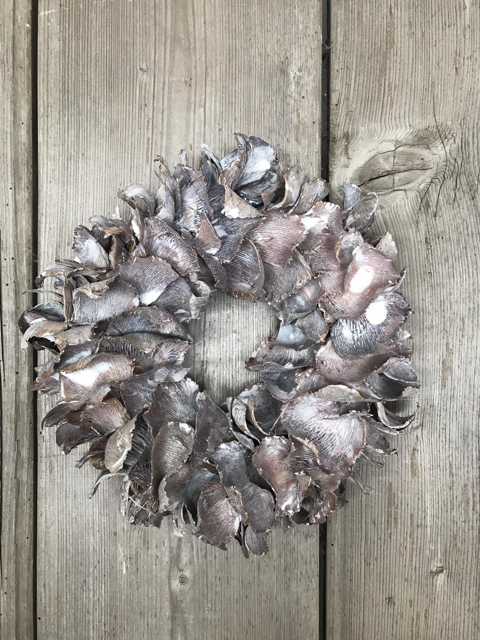 Naturkranz  Palm-Blätter  white-wash