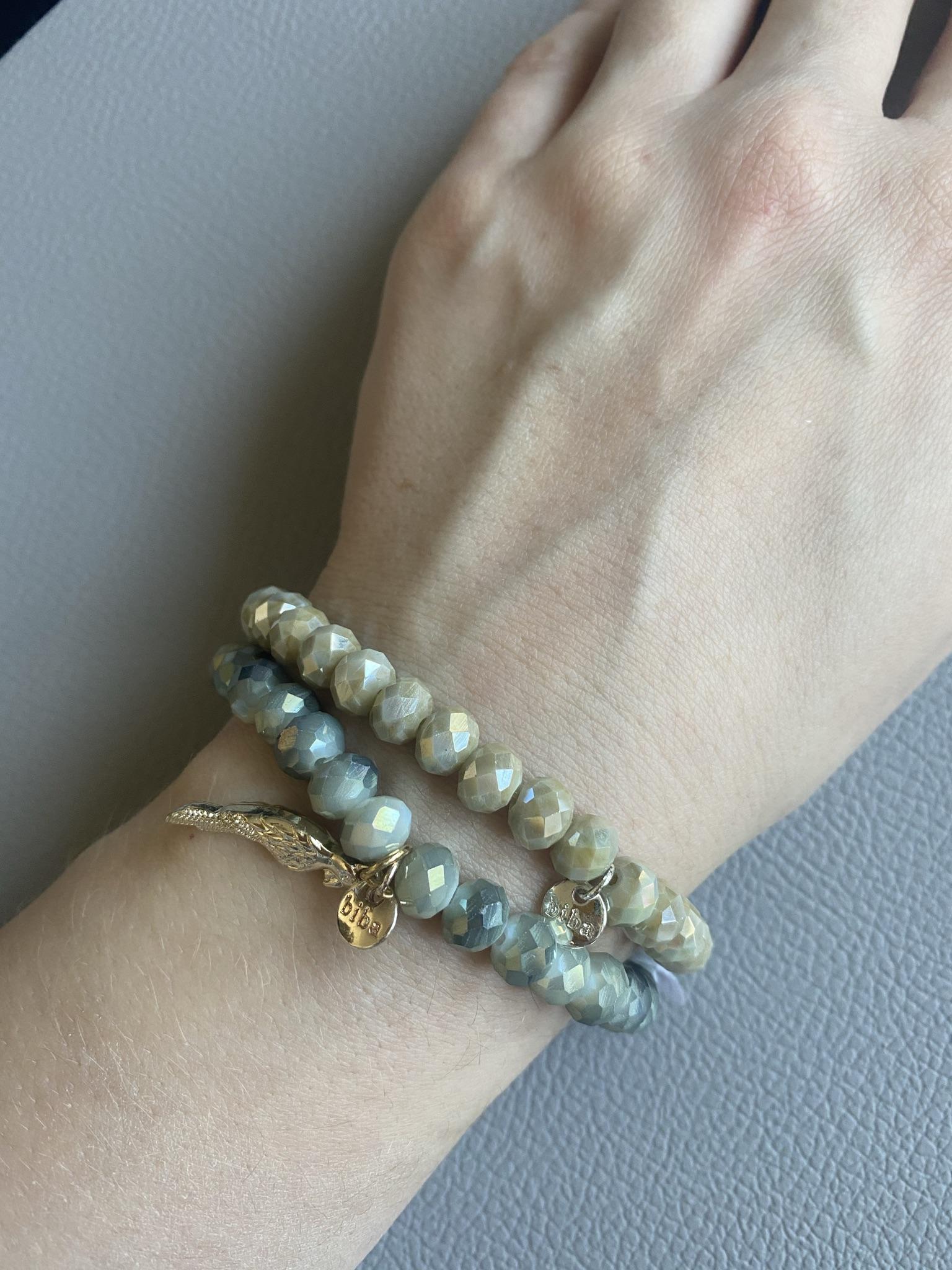 Biba Armband grün/silber
