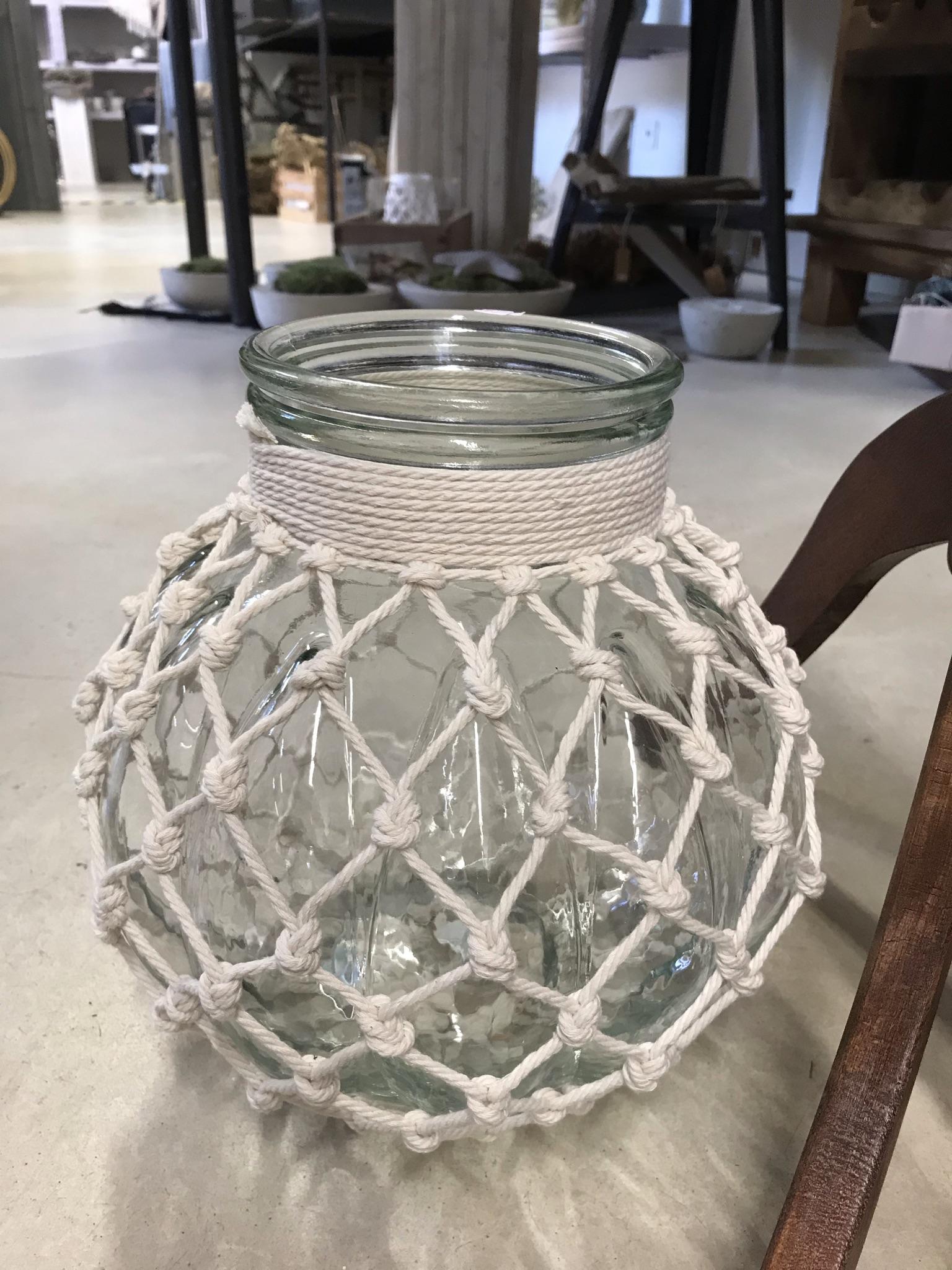Kerzenglas XL Makramee