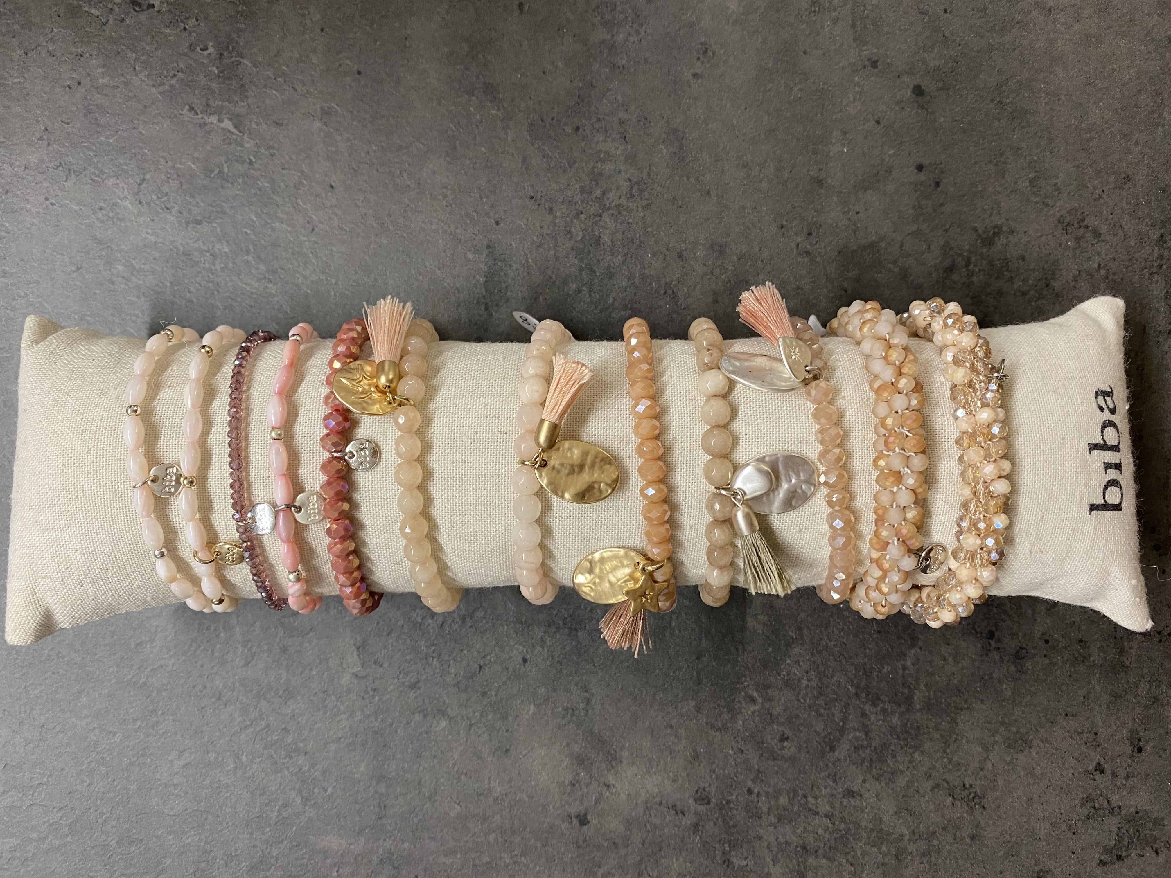 Armband Biba rosé matt