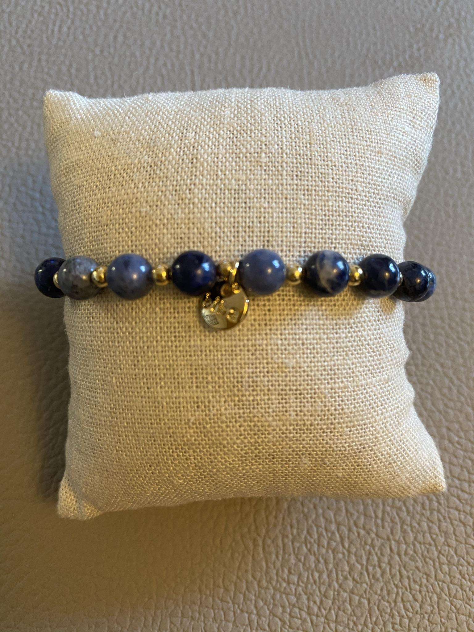 Biba Armband blau marmoriert gold