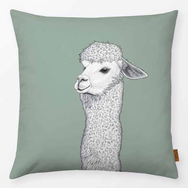 Outdoor-Kissen 50x50cm grünes Lama
