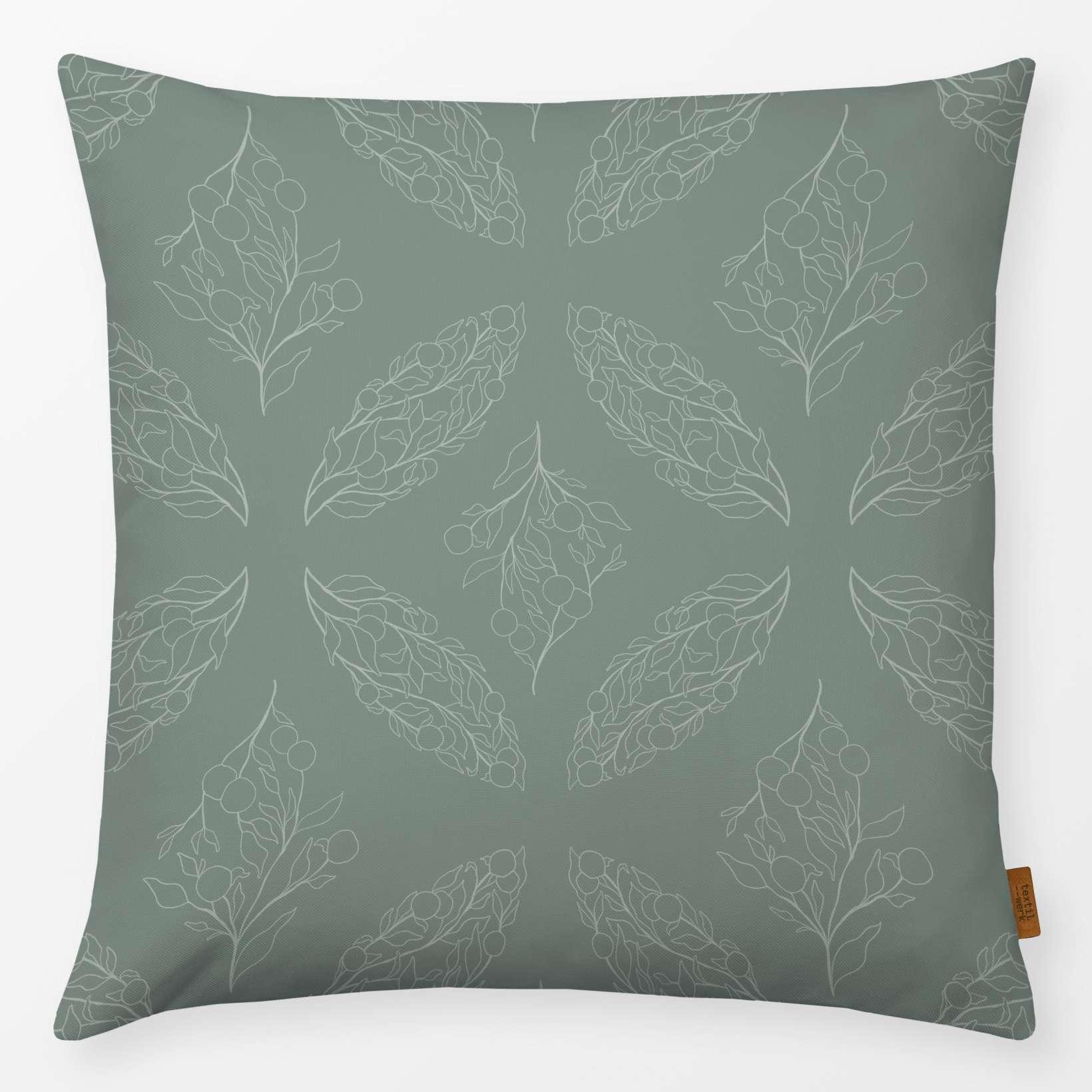 Kissen Leaves & Olive 40x40cm