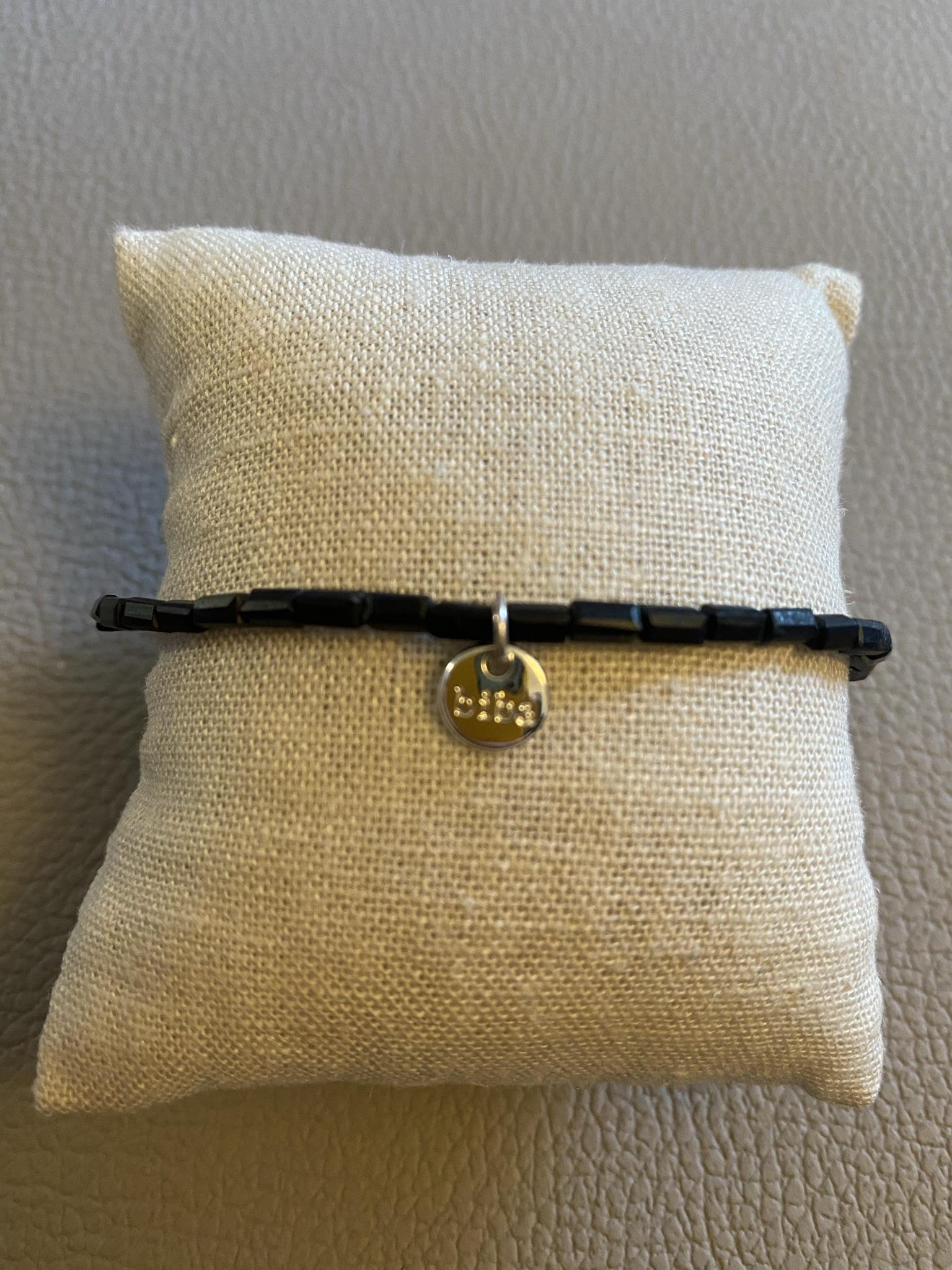 Biba Armband schwarz matt silber