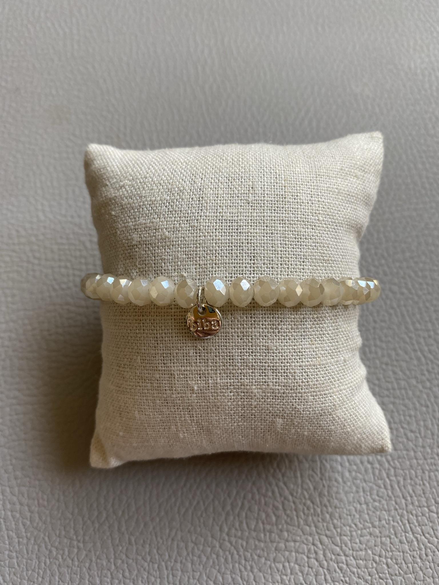Biba Armband altweiß silber