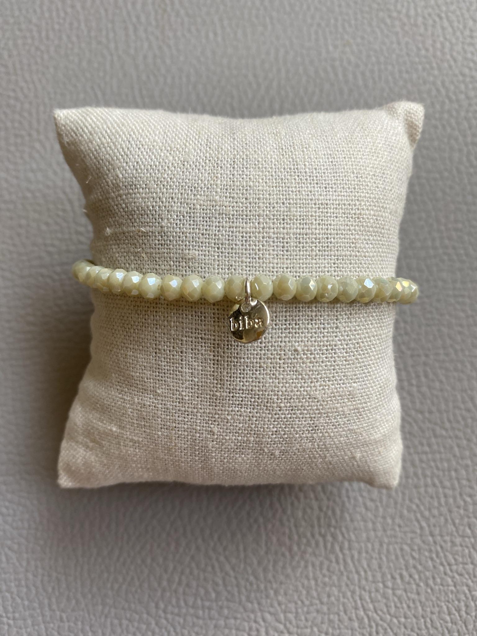 Biba Armband weiß/cremé silber