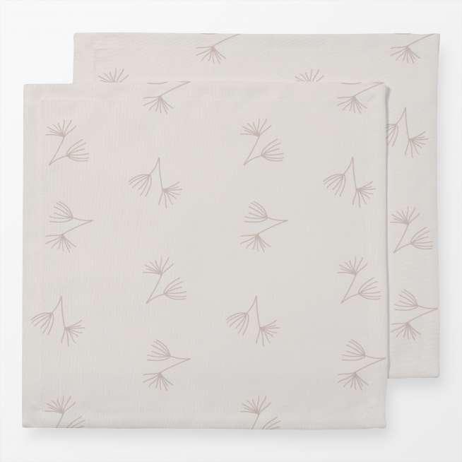 Leinen-Servietten Pusteblume Zart Beige, 2er Set, 40x40cm
